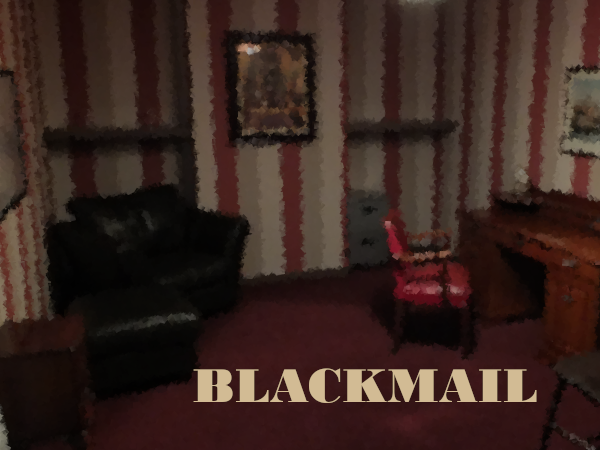 Blackmail cover image: blurred view of a nice looking office